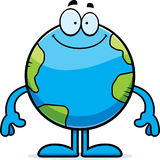 Happy Cartoon Earth Royalty Free Stock Images