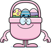 Happy Cartoon Easter Basket Royalty Free Stock Photos