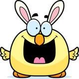 Happy Cartoon Easter Bunny Chick Stock Photos