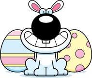 Happy Cartoon Easter Bunny Stock Photography