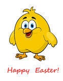 Happy cartoon Easter little chick royalty free illustration