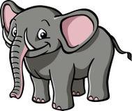 Happy cartoon elephant. A happy, smiling cartoon elephant Royalty Free Stock Images