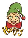 Happy cartoon elf Royalty Free Stock Photo