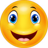 Happy cartoon emoticon Stock Image