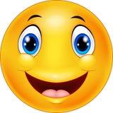 Happy cartoon emoticon Stock Image