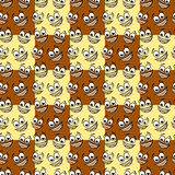 Happy cartoon emoticon seamless pattern. Royalty Free Stock Photo