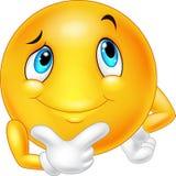 Happy cartoon emoticon thinking Royalty Free Stock Photos