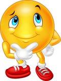 Happy cartoon emoticon thinking Royalty Free Stock Photography
