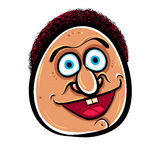 Happy cartoon face, vector illustration. Stock Photo