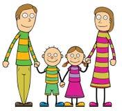Happy Cartoon Family Royalty Free Stock Images