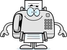 Happy Cartoon Fax Machine Royalty Free Stock Image
