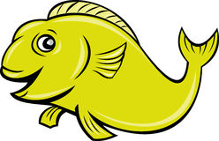 Happy cartoon fish Stock Photos