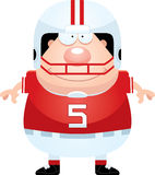Happy Cartoon Football Player Stock Photos