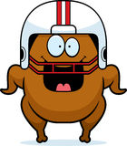Happy Cartoon Football Turkey Royalty Free Stock Image