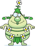 Happy Cartoon Forest Sprite Royalty Free Stock Photos