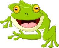 Happy cartoon frog Stock Images