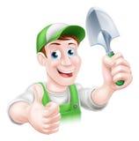 Happy Cartoon Gardener Stock Photography