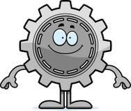 Happy Cartoon Gear Royalty Free Stock Photography