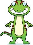 Happy Cartoon Gecko Royalty Free Stock Photos