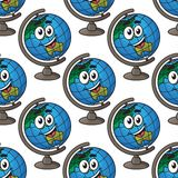 Happy cartoon globe seamless pattern Royalty Free Stock Photography