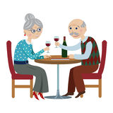 Happy cartoon grandparents Royalty Free Stock Images