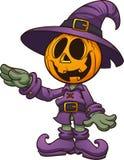 Happy cartoon Halloween Jack o lantern with separate arm. Happy cartoon Halloween Jack-'o-lantern character. Vector clip art illustration. Character and stock illustration