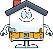 Happy Cartoon Home Improvement Royalty Free Stock Photography