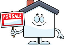 Happy Cartoon Home Sale Royalty Free Stock Images