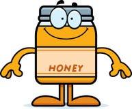Happy Cartoon Honey Jar Royalty Free Stock Images