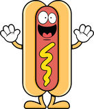 Happy Cartoon Hot Dog Stock Image