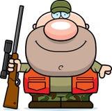 Happy Cartoon Hunter Stock Image