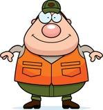 Happy Cartoon Hunter Stock Images