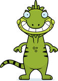 Happy Cartoon Iguana Stock Photography