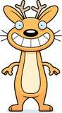 Happy Cartoon Jackalope Royalty Free Stock Images