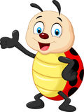 Happy cartoon ladybug waving hand Stock Images