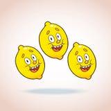 Happy cartoon lemons Stock Image