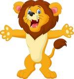 Happy cartoon lion posing Royalty Free Stock Photo