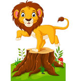 Happy cartoon lion Royalty Free Stock Images
