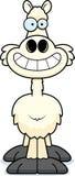 Happy Cartoon Llama Royalty Free Stock Photo