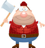Happy Cartoon Lumberjack Stock Photo
