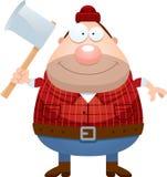 Happy Cartoon Lumberjack Stock Photo