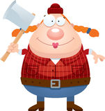 Happy Cartoon Lumberjack Royalty Free Stock Photography
