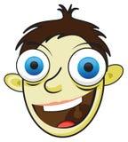 Happy cartoon man Stock Images