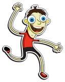 Happy cartoon man Royalty Free Stock Image