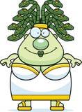 Happy Cartoon Medusa Stock Images