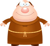 Happy Cartoon Monk Stock Image