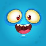 Happy cartoon monster face. Halloween monster stock photography