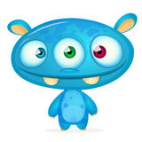 Happy cartoon monster Royalty Free Stock Photography