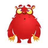 Happy cartoon monster. Vector character for Halloween. Happy cartoon monster. Vector character royalty free illustration
