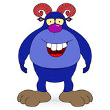 Happy cartoon monster. Vector clip Royalty Free Stock Photos
